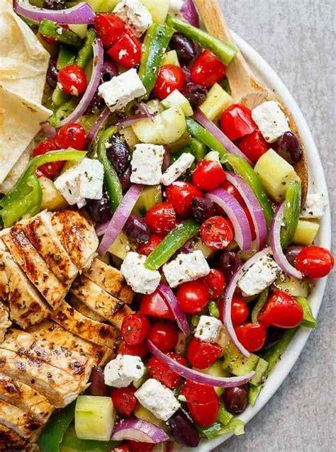 cuisine grecque traditionnelle recette salade composée à la grecque idées testées et