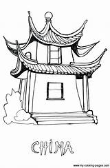 Coloring Chinese Pages China Pagoda Colouring Culture Drawing Themed Responders Books Printable Asia Crafts Template Coloriage Getdrawings Festival Activities Years sketch template