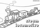 Train Coloring Pages Steam Print sketch template