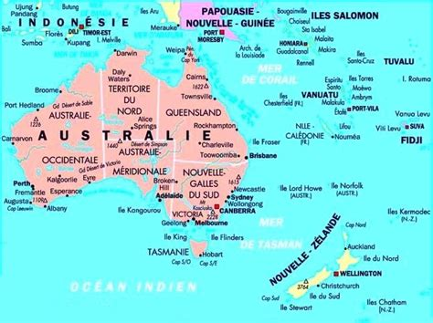 Carte Geographique Du Monde Australie by Carte Oc 233 Anie