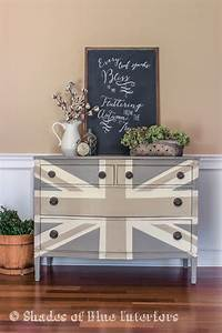 hometalk painted union jack dresser and autumn vignette With kitchen colors with white cabinets with union jack wall art