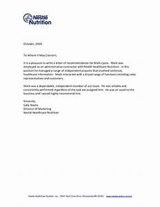 tips for writing a letter of recommendation With referance letter template