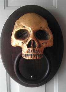 A, U0026quot, Haunted, U0026quot, Door, Knocker, Made, From, Durham, U0026, 39, S, Water, Putty, The, Skull, Portion, Is, Solid, Water, Putty