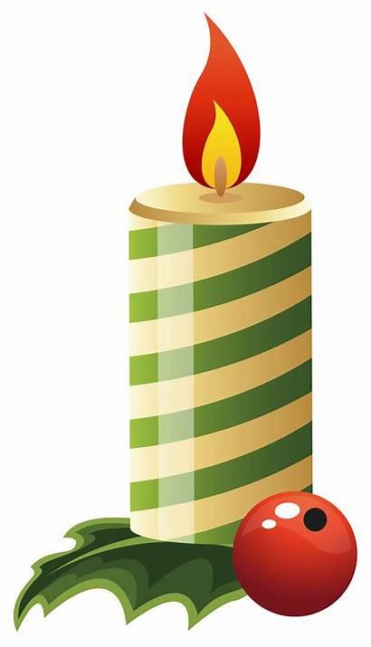 Candle Christmas Clipart Clip Transparent Background Cliparts