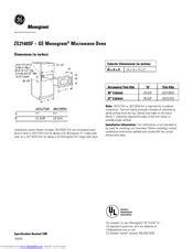 ge monogram zesf manuals manualslib