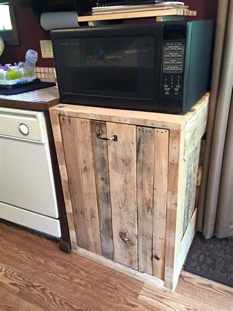trash  holder double pallets kitchens  house