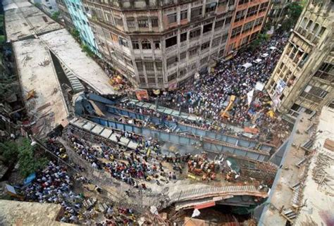 One person was killed and a young woman critically injured when the ferrari car they were travelling in crashed into a a road divider on national the accident took place around 9.30 am. Rush to crash: 21 crushed in Kolkata flyover collapse