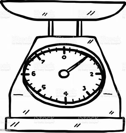 Scale Scales Clipart Kitchen Vector Weighing Drawing