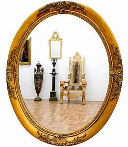 Miroir Baroque Doré : miroir baroque ovale cadre en bois dor 59x49 cm miroirs baroque classic stores ~ Teatrodelosmanantiales.com Idées de Décoration