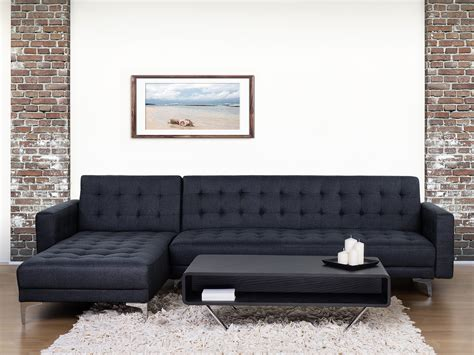 sofa bed corner sofa upholstered anthracite