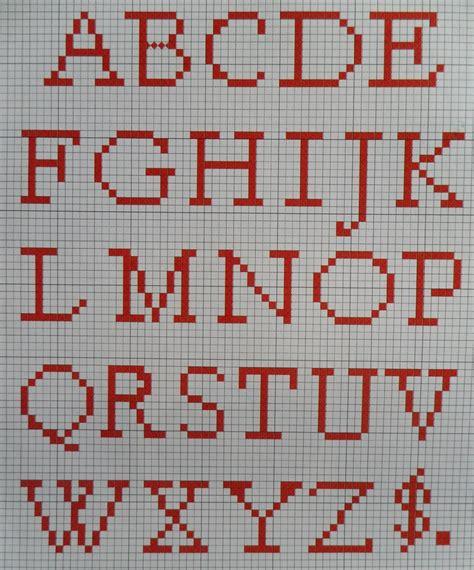 kruissteek borduurpatroon alfabet hobbyblogonl