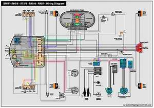 Bmw - R60  6 - R75  6 - R90  6 - R90s - Wiring Diagram