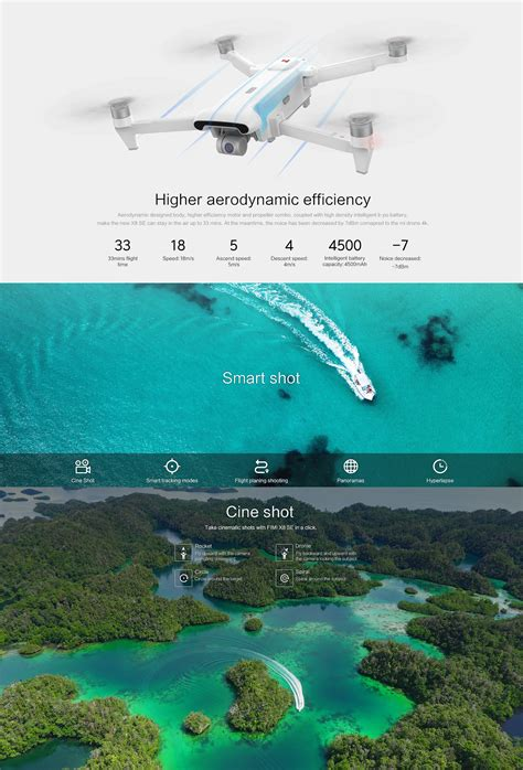 fimi  se km fpv   axis gimbal  camera gps mins flight time rc drone quadcopter