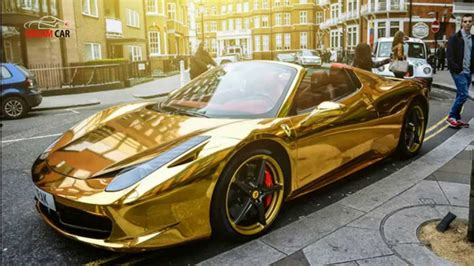 Most Expensive Cars In Gold Of All Time