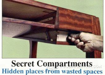 secret drawer hidden compartment furniture woodarchivist