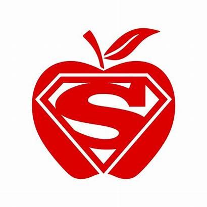 Teacher Appreciation Super Clipart Decal Svg Apple