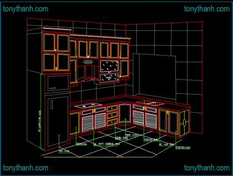 Drawn kitchen autocad   Pencil and in color drawn kitchen