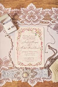 romantic wedding invitations with vintage lace details With cheap wedding invitations gold coast