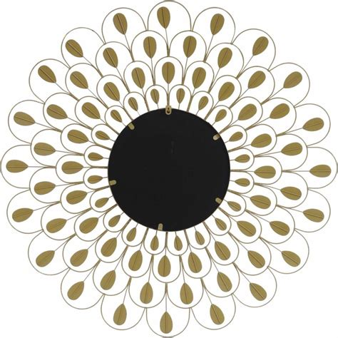 A mirror should look as stunning as the face reflected in it, which is why the decorative round leaf wall mirror from opalhouse™ features a gleaming floral frame. Peacock Feather Decorative Large Round Wall Mirror in ...