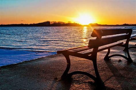 Photo Gratuite Lac, Banc, Coucher De Soleil Image