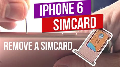 They do this with the help of a smart card copying. iPhone 6 / 6S PLUS HOW TO: Remove a SIM Card - QUICK & EASY - YouTube