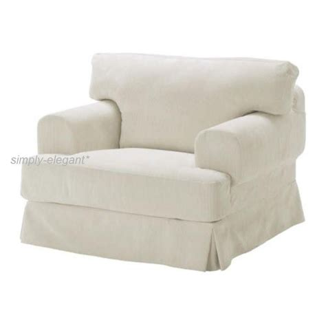 covers for chairs ikea ikea slipcover hovas cover gr 228 dd 246 off white for hovas hov 197 s chair corduroy new ebay