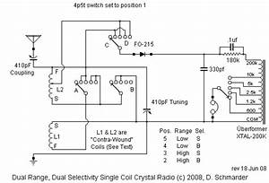 Wiring Schematic Of The Schmarder  71 Crystal Radio
