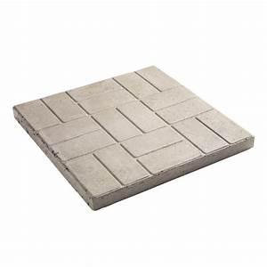 Decor 18-in Square Grey Brick Pattern Patio Stone Lowe's