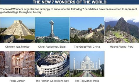 seven wonders of the world seven 7 wonders of the world