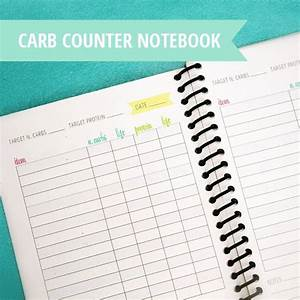 Carb Chart Free Printable Carb Counter Notebook Carb Counter Carb