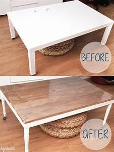 Table Basse Ikea : diy basic table ikea retaper un basique la table basse ~ Nature-et-papiers.com Idées de Décoration