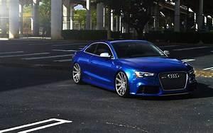 Audi  Blue  Audi Rs5  Rims  Stance Wallpapers Hd    Desktop