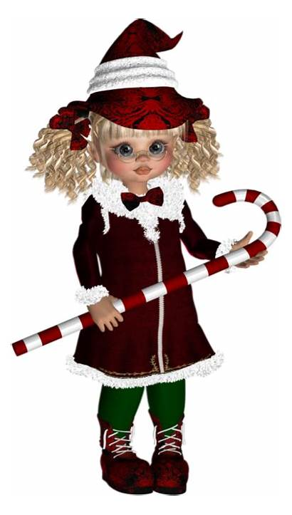 Poser Dolls Cookies Christmas Clipart Elf Holiday