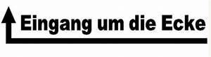 Gardinenstange Um Die Ecke : aufklebermachershop eingang um die ecke mit knick ~ Michelbontemps.com Haus und Dekorationen