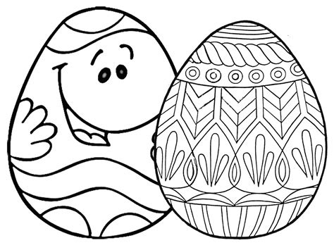 places   printable easter egg coloring pages
