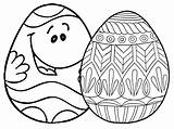 Easter Coloring Egg Eggs Printable Places Ws Face sketch template