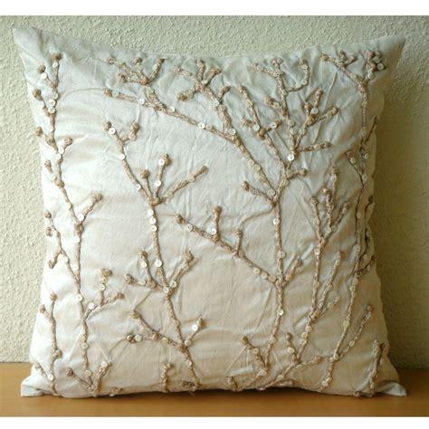 designer pillows for sofa soft sattin pillow case cute beads decorative couch pillows
