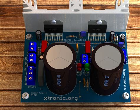 circuit dynamic power amplifier  tda bridge