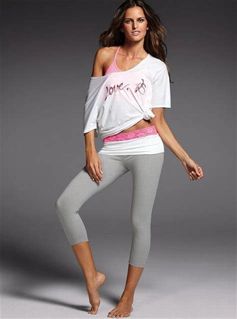 Lace-waist Yoga Foldover Crop Legging - Victoriau0026#39;s Secret | Work it... live it... LOVE it ...