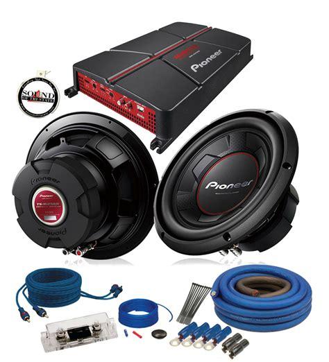 sub installation kit pioneer gm a5702 amplifier w 2 ts w256r 10 quot subwoofers 4ga amp wiring kit ebay