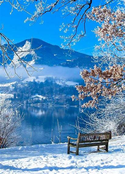 Winter Scenes Landscape Nature Scenery Bright Places