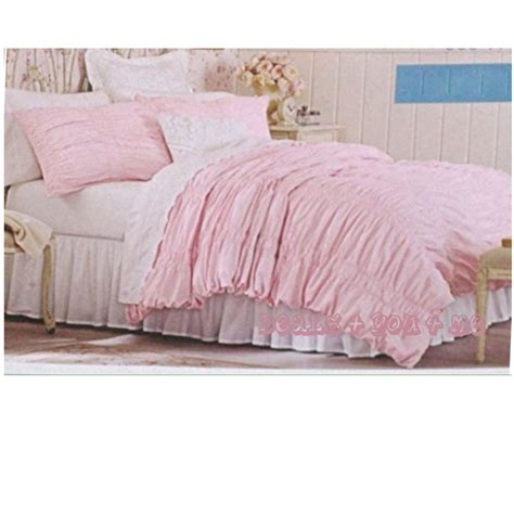 simply shabby chic ruched duvet new simply shabby chic 174 textured ruched duvet cover set pink twin full queen ebay
