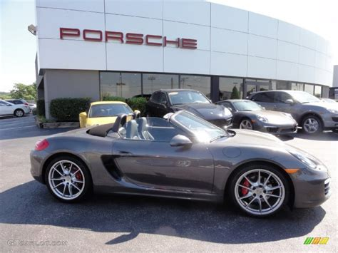 grey porsche boxster 2013 agate grey metallic porsche boxster s 67493574 photo