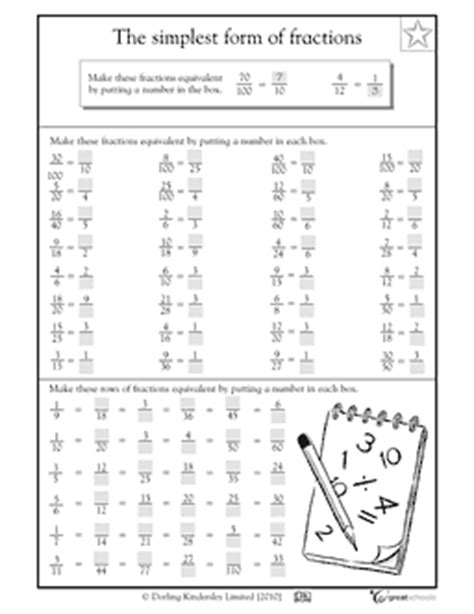 15 best images of equivalent fractions worksheet 3rd grade