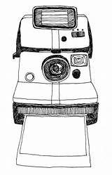 Camera Polaroid Sketch Drawing Tumblr Drawings Things Sketches Retro Doodle Aesthetic Lady Clip Flickr Cameras Cool Print Act Take Explore sketch template