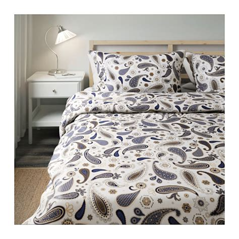 s 214 tblomster quilt cover and 4 pillowcases white blue