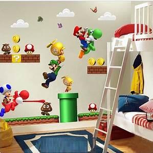 Super Mario Deko : du e naklejki cienne na cian super mario bros 7076868413 wi cej ni aukcje ~ Frokenaadalensverden.com Haus und Dekorationen