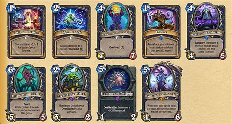 Shaman Deck Hearthstone by Hearthstone Whispers Of The Gods Shaman Card And Deck