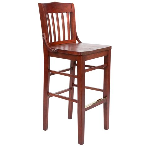 restaurant supply counter stools lancaster table seating mahogany school house bar height