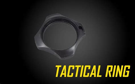 tactical ring cigarette holder combat ring  nitecore flashlights